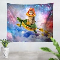 Turtle Taco Cat Tapestry
