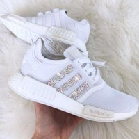 Adidas NMD Fashion Glittering Breathable Running Sports Shoes Sneakers I