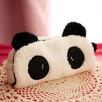 Cute kawaii 3D plush panda pencil case large capacity school supplies noverty item for kids multifunctional free shipping 04815