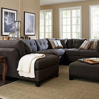 Cindy Crawford Metropolis Slate 3Pc Sectional