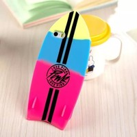 iPhone 5C Case, JEPN 3D beach surfboard design Silicone Case for Apple iPhone5C - Blue & Red