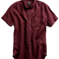 Linen Shirt in Maroon