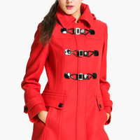 GUESS Patent Toggle Coat | Nordstrom