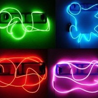 9ft Blue Neon Glowing Strobing Electroluminescent Wire (El Wire): Home & Kitchen