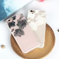 Leaves Mobile Phone Case For Iphone 7 5 5S Se 6 6S 6Plus 6S Plus