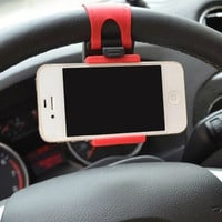 2015 Newest Hot Sale Popular And Beautiful Steering Wheel Car Phone Holder - Photo Color CAR-0141 = 1705959428