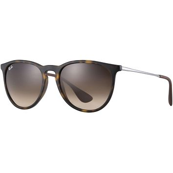 Ray Ban Erika Sunglasses Tortoise with Brown Gradient Lenses RB4171 865/13