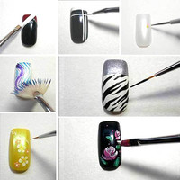 Details about Nail Art Design Pen Brush Painting Dotting Drawing Set