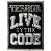Terror Men's Live By The Code Embroidered Patch Black