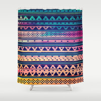 SURF TRIBAL PATTERN Shower Curtain by Nika