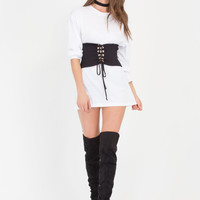 Hourglass Figure Stretchy Lace-Up Corset