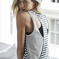 Striped One Eleven Double Layer Racerback Tank from EXPRESS