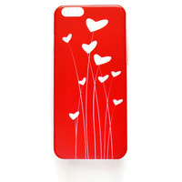 iPhone 6 Case Cover Red Love Hearts iPhone 6s Hard Case Cute Romantic Back Cover For iPhone 6 Girly Slim Design Case Valentine Gift 1342