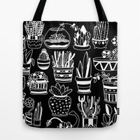 Succulent Party (Night Version) Tote Bag by Alliedrawsthings | Society6