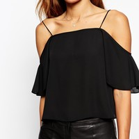 ASOS Cropped Cold Shoulder Cami Top