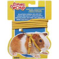 Living World Harness/Lead Guinea Pig Yellow