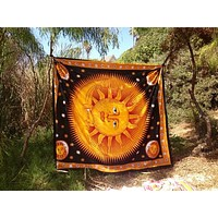 Trending Psychedelic Celestial Indian Sun Bohemian Mandala Hippie Tapestry