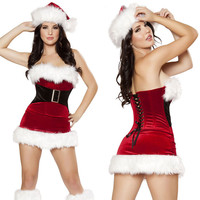Sexy Lovely Corset Christmas Costume Party Apparel [4965282756]