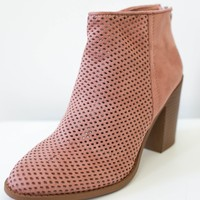 Wynstelle Booties - Dark Blush