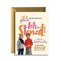 Offensive + Delightful - LET'S GET STONED! Card