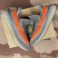 Adidas Yeezy Boost 350 V2 Beluga Grey/Orange Men's and Women's Sneakers Shoes