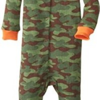 Gerber Baby-Boys Infant 1 Piece Boy Thermal Unionsuit, Green Camo, 18 Months