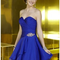 Alyce Paris 3566 Royal Dress for $190: Short, Strapless, Sweetheart