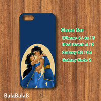 Aladdin and jasmine - iPhone 4 case, iphone 5 Case, iPod touch case, iPod case, Samsung Galaxy S3, samsung Galaxy S4, Galaxy note 2 case