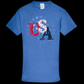 Southern Couture Soft Collection USA Stars T-Shirt