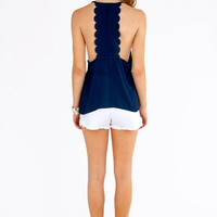 Back That Scallop Top $26