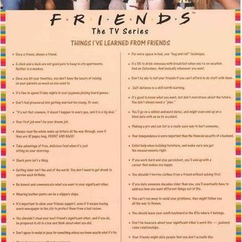 Friends Things I Learned TV Show Poster 24x36