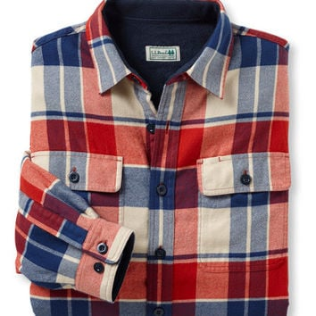 Men's Fleece-Lined Flannel Shirt, Traditional Fit | Now on sale at L.L.Bean
