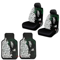 Licensed Official New Suicide Squad Joker laughs Car Truck 2 Front Seat Covers & Floor Mats Set