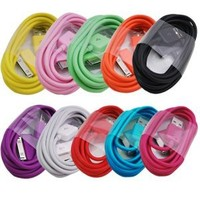 Amazon.com: ELONGPRO 10 Colors 2M/6 feet extra Long USB Data Charger Cable for Apple ipad 1 2 iPod touch iPhone 4 4S B8i: Cell Phones & Accessories