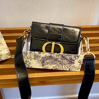 Dior mini wide shoulder strap shoulder bag messenger bag