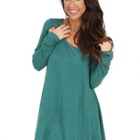 Pick Up The Pieces Dress in Hunter   Monday Dress Boutique
