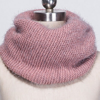 Horse Hair Weave Scarf Knit Neck Warmer