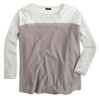 J.Crew Womens Collection Featherweight Cashmere Swing Sweater In Colorblock