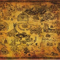 Legend of Zelda Hyrule Map Poster 24x36