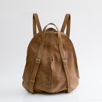 Womens Leather Backpack - Backpack Purse - Leather Computer Backpack - Brown Leather Bag -Fashion Bag - Leather Tote Bag