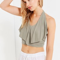 UO Sierra Ruffle Halter Tank Top | Urban Outfitters