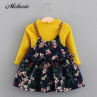 Melario Baby Dresses Brand Baby girls clothes princess girls dress Ball of yarn Kids Clothes Children Party princess dresses