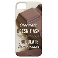 Funny quote iPhone 5 s case Chocolate