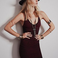 Intimately Womens Strap Back Printed Body Con - Very Berry M/L