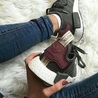 Adidas NMD R1 Boost Women Trending Running Sports Shoes Sneakers