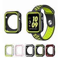 Fall resistance Soft Silicone Case For Apple Watch