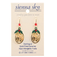 Sienna Sky Gp Oval 'Music' With Holly Earrings