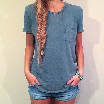 Plain T-Shirt With Pocket