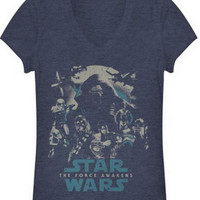 STAR WARS TFA SUBTLE POSTER JUNIORS T-SHIRT