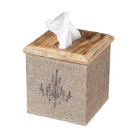 Sterling Industries 89-8005 Linen Covered Tissue Box